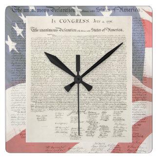 柱時計独立宣言 スクエア壁時計