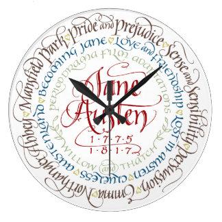 柱時計-ジェーンAustenの時代劇の適応 ラージ壁時計