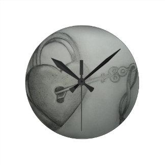 柱時計 ラウンド壁時計