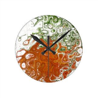 柱時計(抽象芸術) ラウンド壁時計