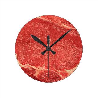 柱時計、肉、ビーフ ラウンド壁時計