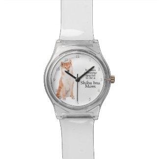 柴犬のお母さんの腕時計 腕時計