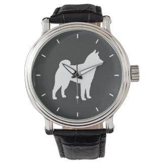 柴犬のシルエット 腕時計