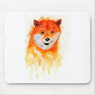 柴犬のポートレート マウスパッド