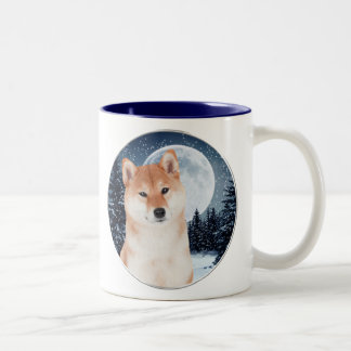 柴犬のマグ ツートーンマグカップ