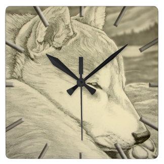 柴犬の時計のギフトの装飾の柴犬礼物の柱時計 スクエア壁時計