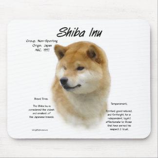 柴犬の歴史のデザイン マウスパッド