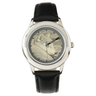 柴犬の番犬の恋人の柴犬の腕時計 リストウオッチ