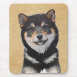 柴犬の(黒およびタン)絵画-犬の芸術 マウスパッド