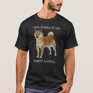 柴犬は私の精神動物です Tシャツ
