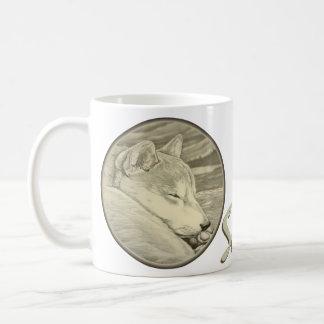 柴犬犬のマグのコーヒーカップの柴犬ガラス コーヒーマグカップ