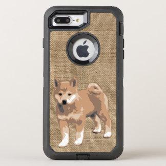 柴犬犬年2018の場合が付いている模造のなバーラップ オッターボックスディフェンダーiPhone 8 PLUS/7 PLUSケース