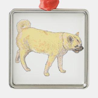 柴犬犬。 かわいい金。 プロダクトに名前を加えて下さい メタルオーナメント