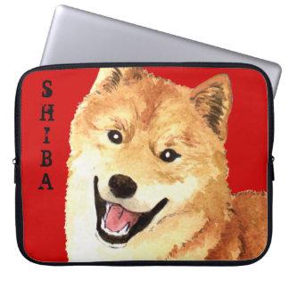 柴犬色のブロック ラップトップスリーブ