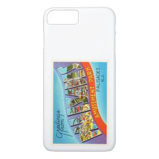 柵のニュージャージーNJのヴィンテージ旅行郵便はがき iPhone 7 PLUSケース