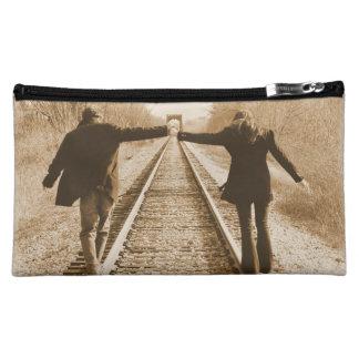 柵の-ハンド・バッグは一緒に歩きます コスメティックバッグ