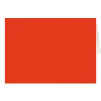 柿(無地のな赤オレンジ色)の~ カード