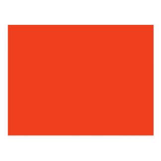 柿(無地のな赤オレンジ色)の~ ポストカード