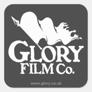 栄光のフィルムCo.のロゴのステッカー スクエアシール