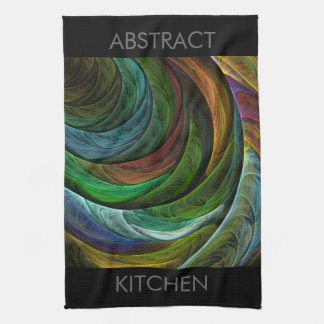栄光の抽象美術の台所タオルを着色して下さい キッチンタオル