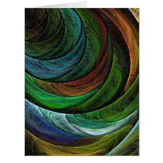 栄光の抽象美術を着色して下さい カード