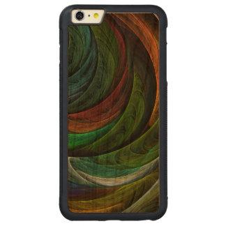 栄光の抽象美術を着色して下さい CarvedチェリーiPhone 6 PLUSバンパーケース
