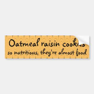 栄養価が高いオートミールの干しぶどうクッキーそう… バンパーステッカー