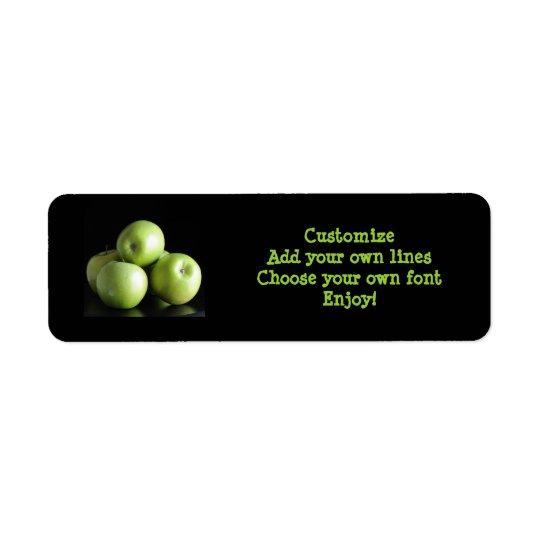 栄養士、栄養士…日りんご 返信用宛名ラベル