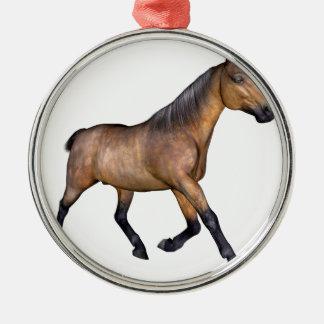 栗毛の馬のランニング メタルオーナメント