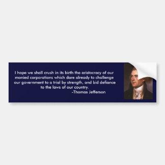 株式会社のトーマス・ジェファーソンの意見 バンパーステッカー