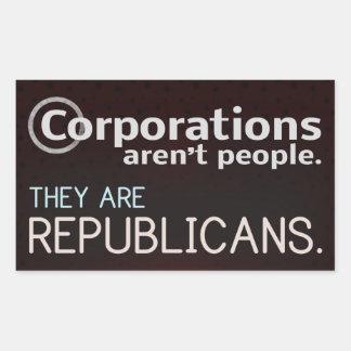 株式会社は人々ではないです。 彼らは共和党員です 長方形シール