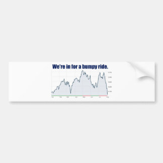 株式市場の図表の乱高下 バンパーステッカー