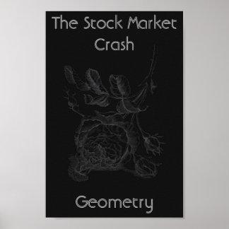 株式市場の暴落 ポスター