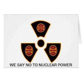 """""""核へのいいえ"""" * カード"""