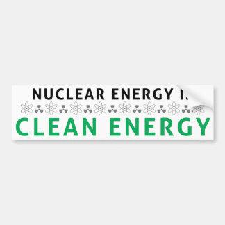 核クリーンエネルギーはです バンパーステッカー