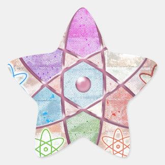 核心-科学へ美しいを加えること 星シール