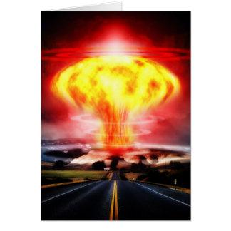 核爆発のきのこ雲のイラストレーション カード