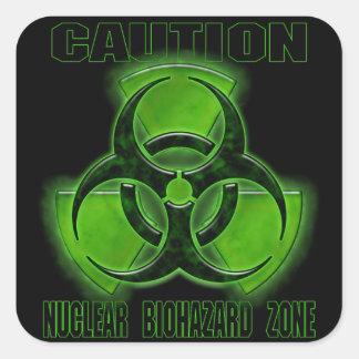 核生物学的災害[有害物質]の注意の印 スクエアシール