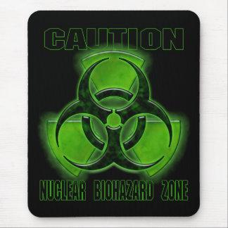 核生物学的災害[有害物質]の注意の印 マウスパッド