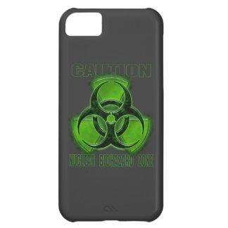 核生物学的災害[有害物質]の注意の印 iPhone5Cケース