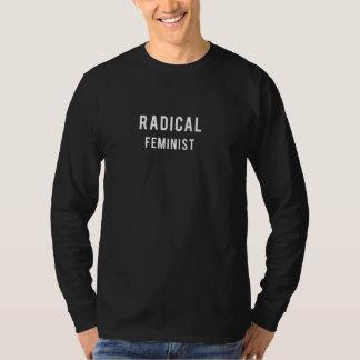 根本的な男女同権主義の長袖のTシャツ Tシャツ