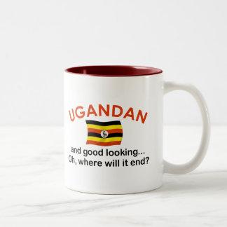 格好良いウガンダ人 ツートーンマグカップ