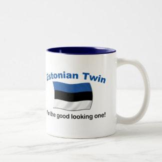 格好良いエストニア語の双生児 ツートーンマグカップ