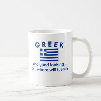 格好良いギリシャ語 コーヒーマグカップ