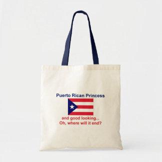 格好良いプエルトリコのプリンセス トートバッグ