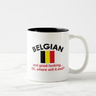格好良いベルギー人 ツートーンマグカップ