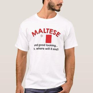 格好良いマルチーズ Tシャツ