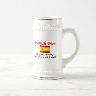 格好良くスペインのなお母さん ビールジョッキ
