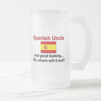 格好良くスペインのな叔父さん フロストグラスビールジョッキ