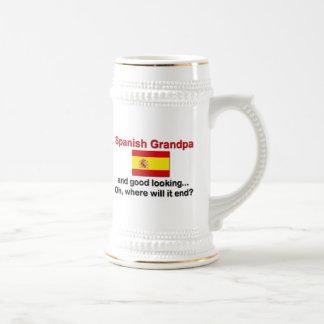 格好良くスペインのな祖父 ビールジョッキ